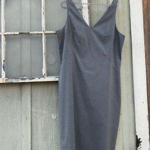 Banana Republic Gray Dress Sleeveless Zipper Back